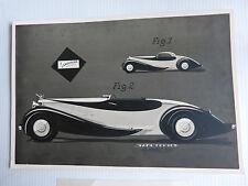 dépot de brevet d'un modèle de carrosserie torpedo automobile JACQUES SAOUTCHICK