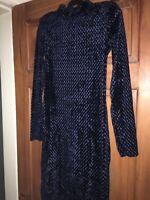 Ladies atmosphere size 10 blue dress BNWT RRP £13 Primark Partywear