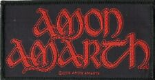 Amon Amarth ' Red Logo ' Woven Patch
