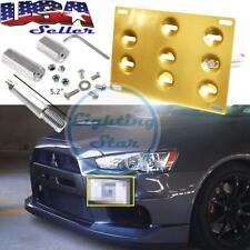 Bumper Mount Holder Tow Hook License Plate Gold For Mitsubishi Lancer Evolution