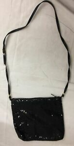 Whiting and Davis Black Sequined Shoulder Purse