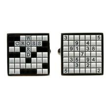 SUDOKU AND CROSSWORD PUZZLE CUFFLINKS Word Game Fathers Day w GIFT BAG Wedding