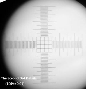 0,01 mm Mikroskop-Bühne Mikrometer-Kalibrierung Objektträger-Raster 4 Absehen
