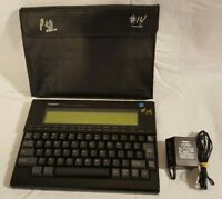 TANDY WP-2 VINTAGE PORTABLE WORD PROCESSOR , PROTECTIVE CASE & OEM AC ADAPTER