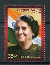 Russia 2017 MNH Indira Gandhi 1v Set Flags Stamps