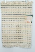 Vintage 1980s Bath Mat Rubber backed Natural collection Nantucket 21X34 Ivory