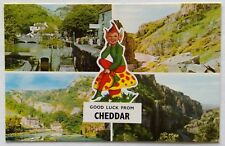 Cheddar UK 4 Views Postcard (P285)