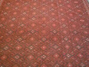 "A large Turcoman Kilim oriental carpet, rug ( 10ft.10"" x 6ft.10"" )"