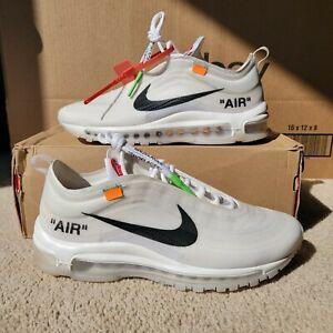 Nike Air Max 97 Off White Size 8.5 The Ten Virgil Abloh FOG AJ4585 100