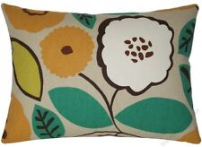 """Orange/Yellow/Brown/Green Bloom throw pillow cover/cushion cover 12x16"""""""