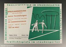 Plakat Freilichtspiele Remscheider Bühne um 1955