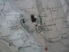 RARE RAPPORT LE SYSTEME DE DEFENSE DE ANGLETERRE PORTSMOUTH CARTE PLAN 1861