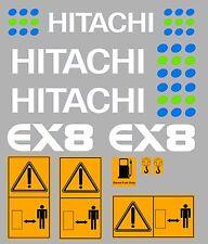 Hitachi EX8 Ensemble Complet Autocollant Mini Pelle