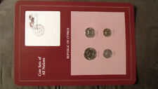 Coin Sets of All Nations Cyprus w/card all 1982 UNC 150 stamp