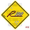 ROTARY STICKER for RX2 RX3 RX4 RX7 RX8 R100 - STREET SIGN R100  #12
