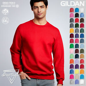 Gildan Crew Neck Sweatshirt Plain Unisex Heavy Blend Casual Jumper Sweater S-5XL