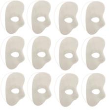 Máscara Facial media de 12x Blanco Fantasma de la ópera Adulto Masquerade Party De Noche 26027