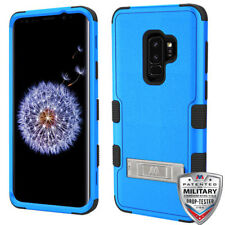 Samsung Galaxy S9+ Plus Hybrid Cover Shockproof Protective Case w/ Stand Blue