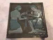 """FRANKLIN, FLINT GRUEBY ROOKWOOD 12.5""""  Architectural Tile Arts & Crafts Ceramics"""