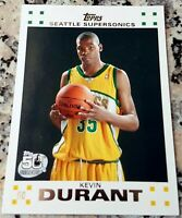 KEVIN DURANT 2007 Topps WHITE SP Rookie Card RC MVP Warriors 2017 Champions $$$