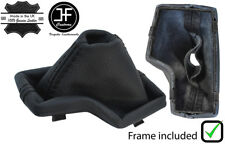 SAND STITCH LEATHER GEAR HANDBRAKE GAITER PLASTIC FRAME FOR BMW X3 E83 03-10