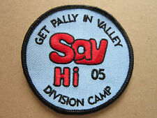 Get Pally In Valley 05 Scouts Guides Cloth Patch Badge Boy Scouts Scouting (L2K)