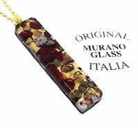 Murano Glass Pendant Murano Glass Jewellery Handmade Glass Pendant 4cm x 1cm