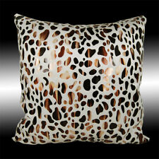 ANIMAL FASHIONABLE BEIGE GOLD LEOPARD VELVET THROW PILLOW CASE CUSHION COVER 17""