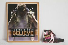 Justin Bieber BELIEVE Around the World Tour Souviner Program Book + VIP Pass