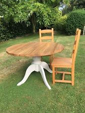 """48"""" Round Rustic Farmhouse Pine Table  (Table only, handmade to order)"""