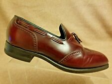 2b14ecf5d5a Florsheim Imperial Men Burgundy Loafers Wingtip Tassel Leather Shoes Size  7.5 D