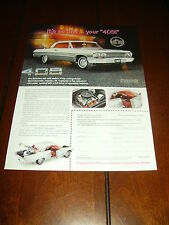 FRANKLIN MINT 1963 CHEVROLET IMPALA SS 409  ***ORIGINAL 1998 AD***