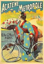 Acatène Métropole Geshia Bike Cycle Bicycle Deco Colourful  Poster Print