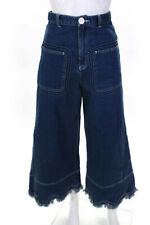 See by Chloe Womens Wide Leg High Rise Jeans Blue Cotton Size 25