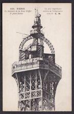 France PARIS Sommet de la Tour Eiffel 3e plate-forme c1900/10s? PPC