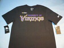 3e3b22ac Mens Nike Short Sleeve Minnesota Vikings Football T Shirt Black Large L