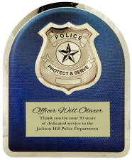 Police Department Hero Plaque - with free Personalization