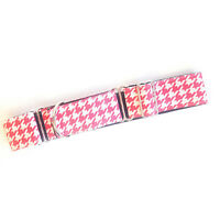 Martingale Dog Collar PINK HOUNDSTOOTH Greyhound Whippet Lurcher Dog Lead