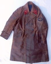 Soviet Russian Russia USSR WW2 Pilot Colonel Aviation Leather Coat Uniform