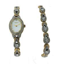Elgin EG8013STB Women's Mother of Pearl Clear Stone Analog Watch & Bracelet Set