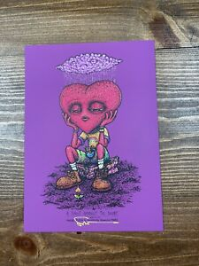 Marq Spusta A Sprout Amongst The Doubt Purple Rubber Art Print  Small Damage 5X7