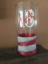 Personalised Glitter Pint Swirl Glass, Ideal For Birthday, Anniversary