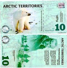 Arctic TERRITOIRES Billet 10 POLAR 2010 POLYMER  OURS POLAIRE UNC NEUF