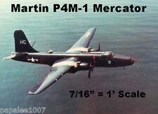 "Model Airplane Plans (UC): MARTIN P4M-1 MERCATOR Scale 50"" Bomber .19 Engines"