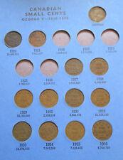 Set of Canada Small Cents (1920-1972). BETTER GRADES IN WHITMAN FOLDER (SR03)