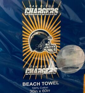 """Brand New NFL San Diego Chargers Throwback Beach Towel 30"""" x 60"""""""