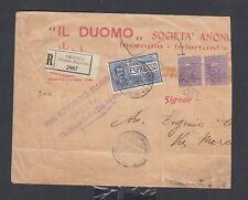 Italy 1923 Registered Express Cover Genova Centro