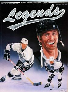 1- 8 1/ x 11 Legends Price Guide, Wayne Gretzky On cover Sports cards in side