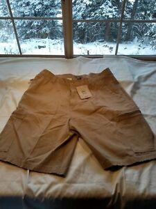 Alpine Design Mens Shorts Cargo Pockets Beige with tags Cotton Size 38 k6