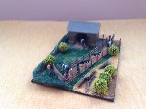 Model OO gauge diorama. Cows on the move! Handmade. Suit railway / Hornby